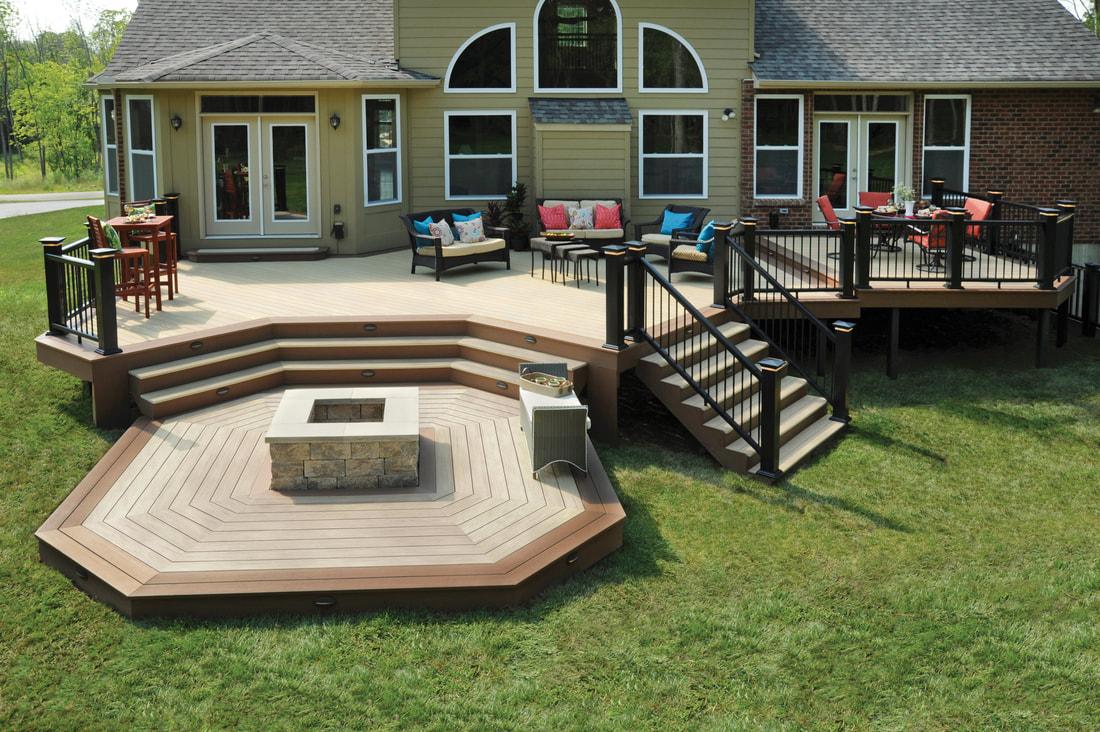 Decks cedar pre treated pine pro wood duracolor azek for Composite decking brands