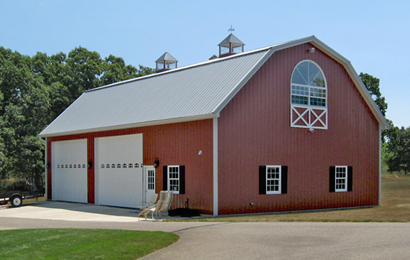 Pole barns and garages chelsea lumber company chelsea saline and bridgewater michigan - Gambrel pole barns style ...